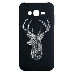 Чохол для Samsung J7 2015 Imprint of human skin in the form of a deer