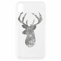 Чохол для iPhone XR Imprint of human skin in the form of a deer