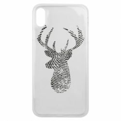 Чохол для iPhone Xs Max Imprint of human skin in the form of a deer