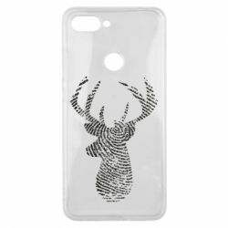 Чохол для Xiaomi Mi8 Lite Imprint of human skin in the form of a deer