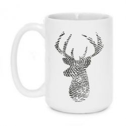 Кружка 420ml Imprint of human skin in the form of a deer