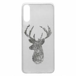 Чохол для Samsung A70 Imprint of human skin in the form of a deer