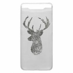Чохол для Samsung A80 Imprint of human skin in the form of a deer