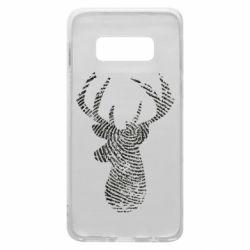 Чохол для Samsung S10e Imprint of human skin in the form of a deer