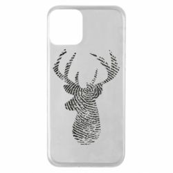 Чохол для iPhone 11 Imprint of human skin in the form of a deer
