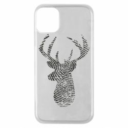 Чохол для iPhone 11 Pro Imprint of human skin in the form of a deer