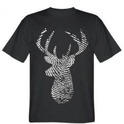 Чоловіча футболка Imprint of human skin in the form of a deer
