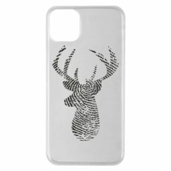 Чохол для iPhone 11 Pro Max Imprint of human skin in the form of a deer