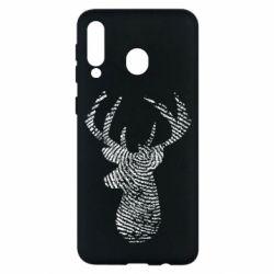 Чохол для Samsung M30 Imprint of human skin in the form of a deer