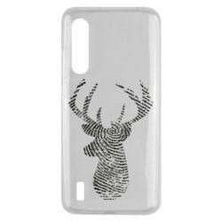 Чохол для Xiaomi Mi9 Lite Imprint of human skin in the form of a deer