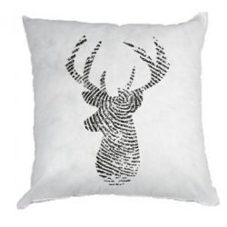 Подушка Imprint of human skin in the form of a deer