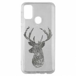 Чохол для Samsung M30s Imprint of human skin in the form of a deer