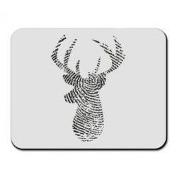 Килимок для миші Imprint of human skin in the form of a deer