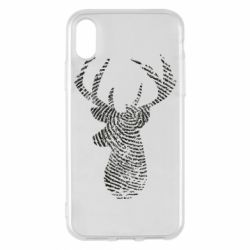 Чохол для iPhone X/Xs Imprint of human skin in the form of a deer