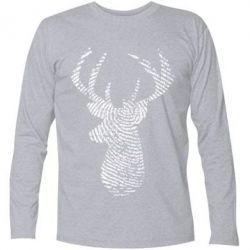 Футболка з довгим рукавом Imprint of human skin in the form of a deer
