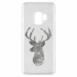 Чохол для Samsung S9 Imprint of human skin in the form of a deer