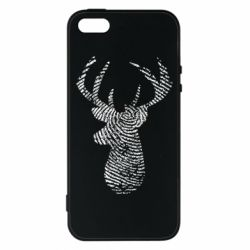 Чохол для iphone 5/5S/SE Imprint of human skin in the form of a deer