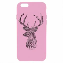 Чохол для iPhone 6/6S Imprint of human skin in the form of a deer