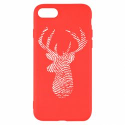 Чохол для iPhone 7 Imprint of human skin in the form of a deer