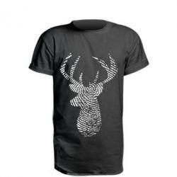 Подовжена футболка Imprint of human skin in the form of a deer