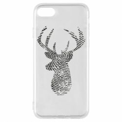 Чохол для iPhone 8 Imprint of human skin in the form of a deer
