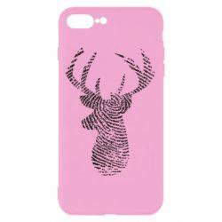 Чохол для iPhone 8 Plus Imprint of human skin in the form of a deer