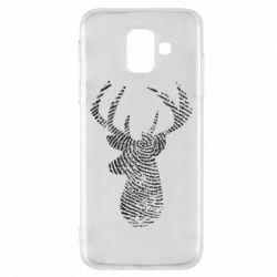 Чохол для Samsung A6 2018 Imprint of human skin in the form of a deer