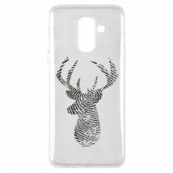 Чохол для Samsung A6+ 2018 Imprint of human skin in the form of a deer
