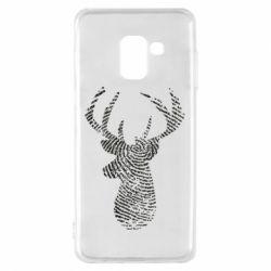Чохол для Samsung A8 2018 Imprint of human skin in the form of a deer