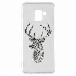 Чохол для Samsung A8+ 2018 Imprint of human skin in the form of a deer