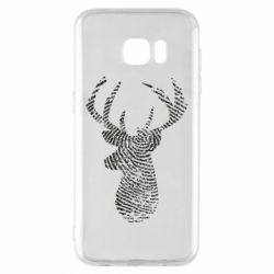 Чохол для Samsung S7 EDGE Imprint of human skin in the form of a deer