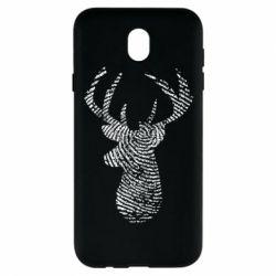 Чохол для Samsung J7 2017 Imprint of human skin in the form of a deer