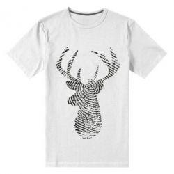 Чоловіча стрейчева футболка Imprint of human skin in the form of a deer