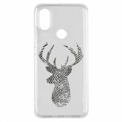 Чохол для Xiaomi Mi A2 Imprint of human skin in the form of a deer
