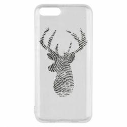 Чохол для Xiaomi Mi6 Imprint of human skin in the form of a deer
