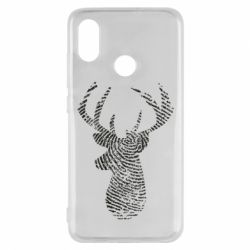Чохол для Xiaomi Mi8 Imprint of human skin in the form of a deer