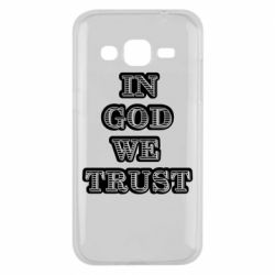 Чехол для Samsung J2 2015 In god we trust