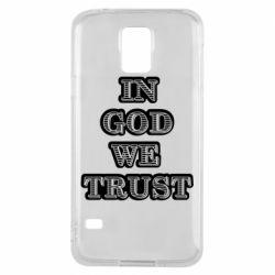 Чехол для Samsung S5 In god we trust