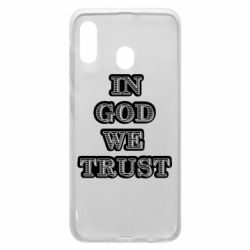 Чехол для Samsung A20 In god we trust
