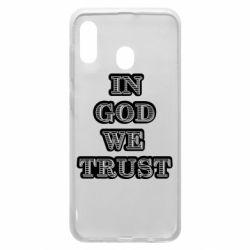 Чехол для Samsung A30 In god we trust