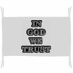 Флаг In god we trust