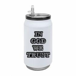 Термобанка 350ml In god we trust
