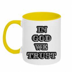 Кружка двухцветная 320ml In god we trust