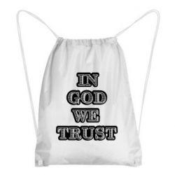 Рюкзак-мешок In god we trust