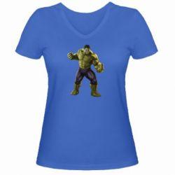 Женская футболка с V-образным вырезом Incredible Hulk 2