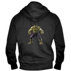 Мужская толстовка на молнии Incredible Hulk - FatLine