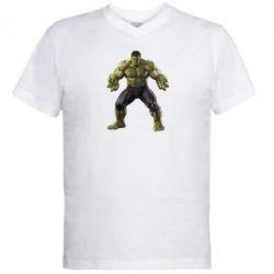 Мужская футболка  с V-образным вырезом Incredible Hulk - FatLine