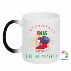 Кружка-хамелеон Incredible xmas time for presents