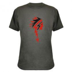 Камуфляжная футболка индеец - FatLine