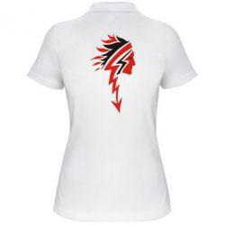 Женская футболка поло индеец - FatLine